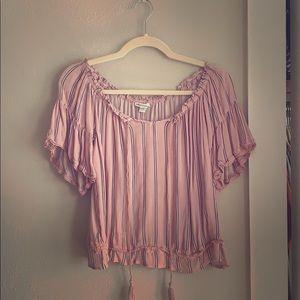 Off the shoulder blush blouse